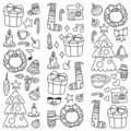 Christmas, holiday, winter, vector illustration. New Year`s pattern, children`s drawings with a teacher, frame.