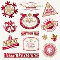Christmas holidays emblems and labels Royalty Free Stock Image