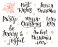 Christmas holidays hand lettering set Royalty Free Stock Photo