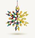 Christmas Holidays Triangle Sn...