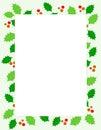 Christmas holly Border Stock Photos