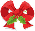 Christmas holly bow Stock Photography