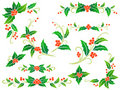 Christmas holly decoration Royalty Free Stock Photos