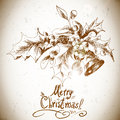 Christmas holly elements for retro design Stock Images