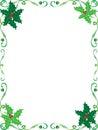 Christmas holly frame Royalty Free Stock Photo