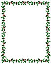 Christmas Holly Frame with Clip Path Royalty Free Stock Photo