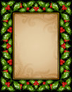 Christmas Holly greeting card Stock Photography