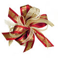 Christmas Holly Ribbon Stock Photography