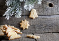 Christmas homemade cookies with fir Stock Image