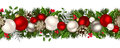 Christmas horizontal seamless background. Vector illustration. Royalty Free Stock Photo