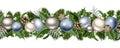 Christmas horizontal seamless garland. Royalty Free Stock Photo