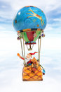 Christmas Hot Air Balloon Royalty Free Stock Images