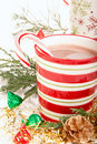 Christmas hot chocolate drink Stock Image