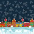 Christmas house background vector illustration Royalty Free Stock Image