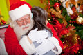 Christmas hug Royalty Free Stock Images