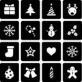 Christmas icon Stock Photography