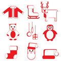 Christmas icon Royalty Free Stock Image