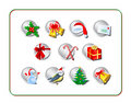 Christmas Icon Set 1 Stock Photo