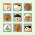 Christmas icon set cartoon concept Stock Images