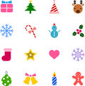 Christmas icon set (color version) Royalty Free Stock Photos