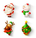 Christmas icon set illustration on white background Stock Photos