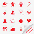Christmas icon set for your design Royalty Free Stock Photography
