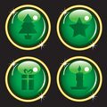 Christmas icon web buttons Royalty Free Stock Photography