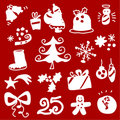 Christmas icons 1 Stock Photography