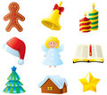 Christmas icons Royalty Free Stock Images