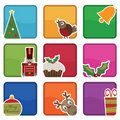 Christmas icons Stock Photo