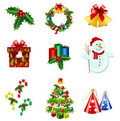 Christmas icons Royalty Free Stock Image