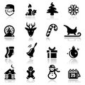 Christmas icons Royalty Free Stock Photos