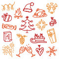 Christmas icons 3 Stock Photos