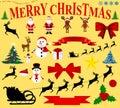 Christmas icons for celebratory design