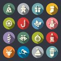 Christmas icons color. Vector Illustration Royalty Free Stock Photo