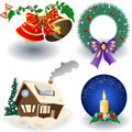 Christmas Icons elements Stock Images