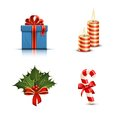 Christmas icons highly detailed vector illustration Stock Photography