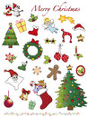 Christmas icons illustration of isolated Stock Image