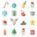 Christmas icons this image is a vector illustration Royalty Free Stock Image
