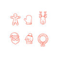 Christmas Icons Outline