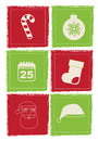 Christmas icons over white background illustration Stock Photo