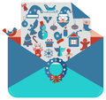 Christmas icons set for beautiful holiday design Royalty Free Stock Photography
