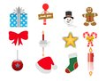 Christmas icons set that have multiple roles Stock Photos