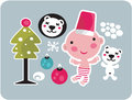 Christmas icons set vector illustration Royalty Free Stock Photography