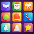 Christmas icons set vector illustration eps contains transparencies Royalty Free Stock Photography