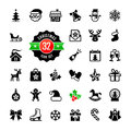 Christmas icons set vector and winter holidays icon Royalty Free Stock Photography