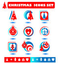 Christmas icons symbols Stock Images
