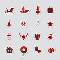 Christmas icons. Vector Stock Photography