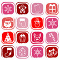Christmas icons vector Stock Photography