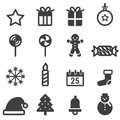 Christmas Icons, vector illustion flat design style.